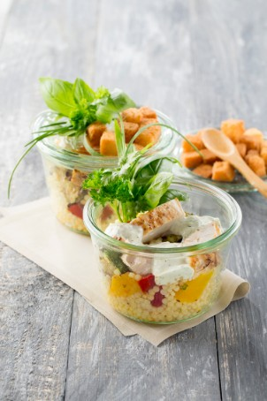 tasty couscous salade